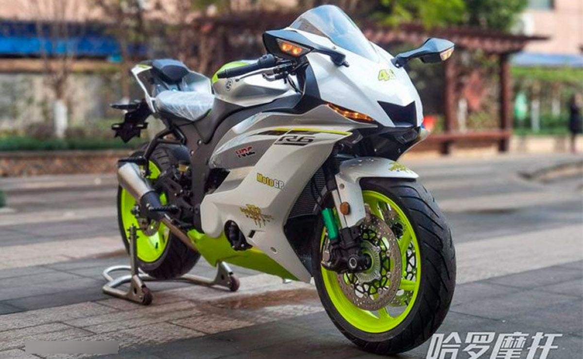 Yamaha R6 copia china vista frontal derecha