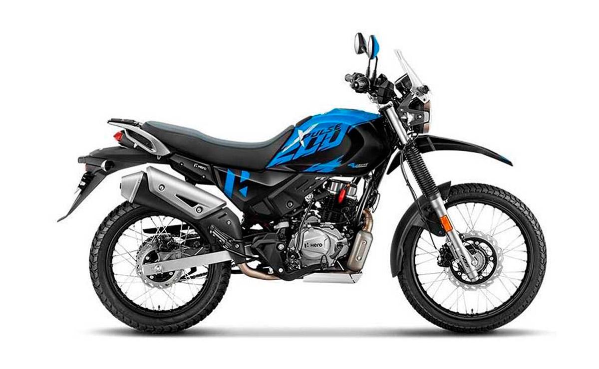 Hero XPulse 200 4V Adventure negra y azul