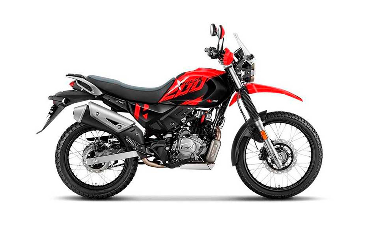 Hero XPulse 200 4V Adventure roja y negra