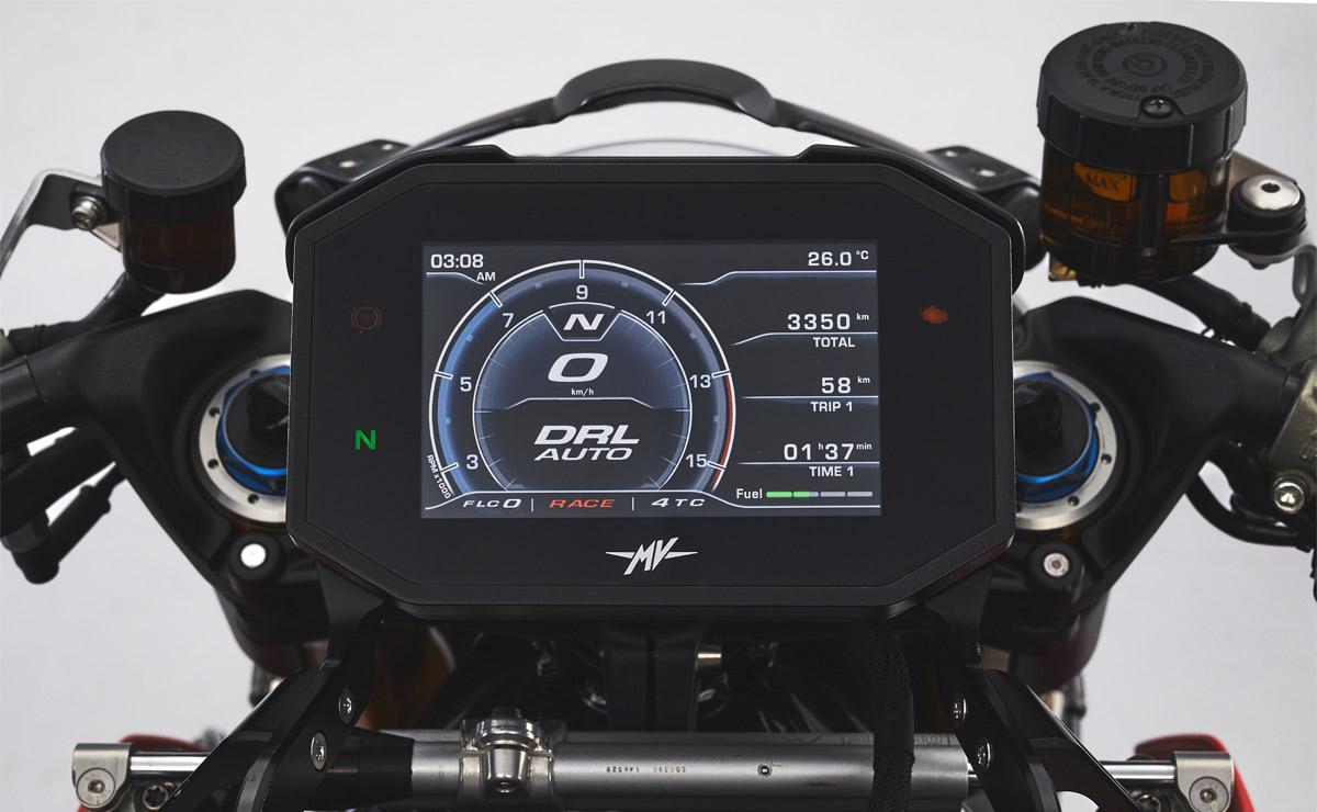 MV Agusta Brutale 1000 RR Nürburgring detalle panel instrumental