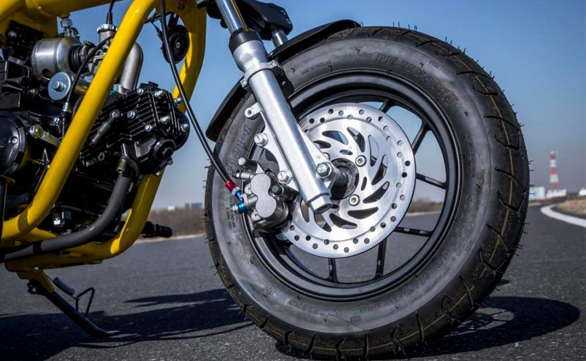 Minibike Gunner 50 detalle frenos