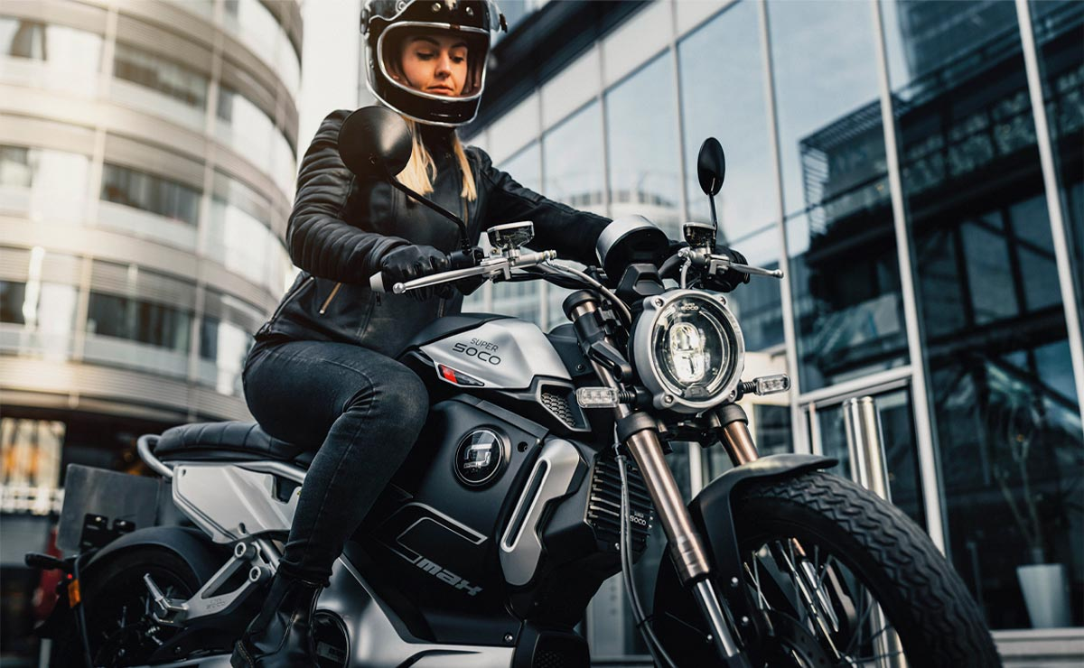 SuperSOCO motos eléctricas acción