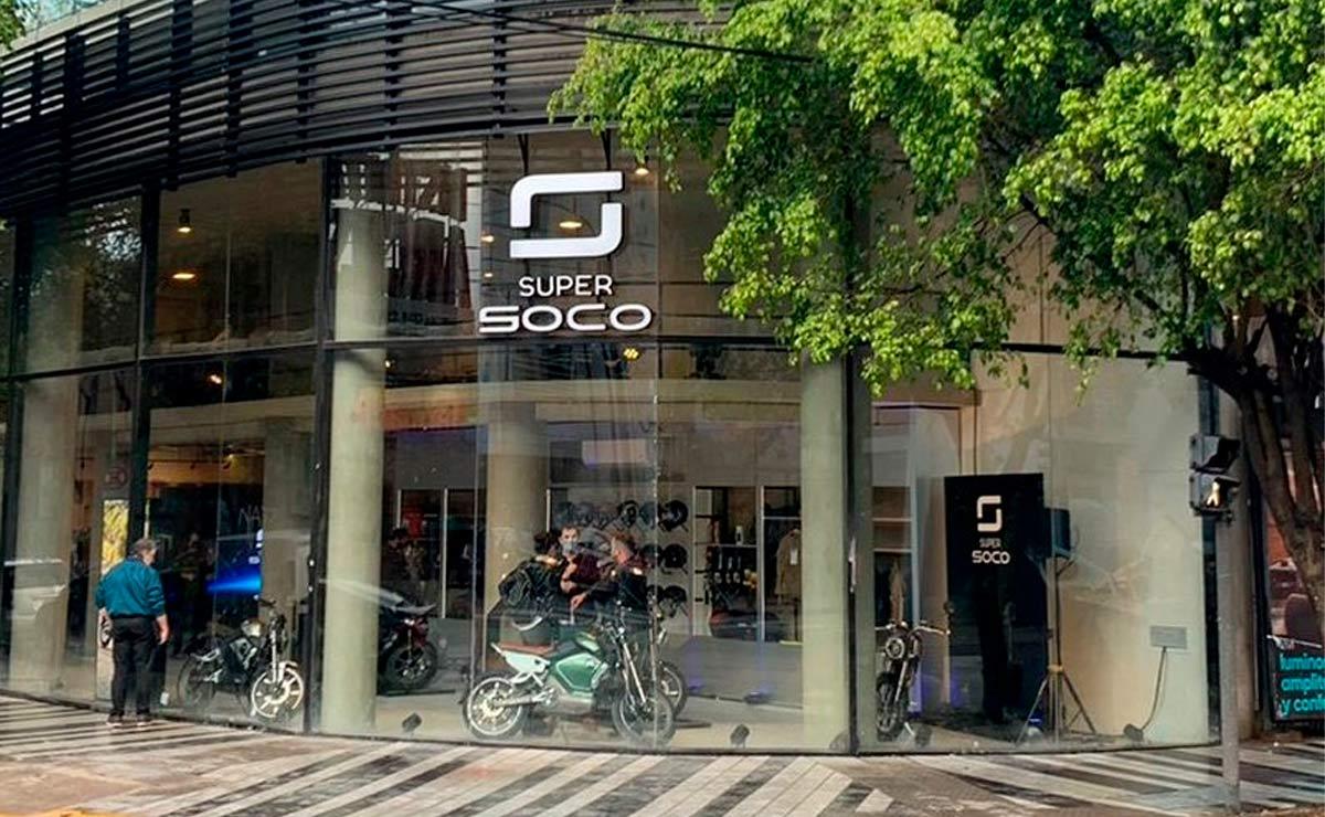 primer concesionario en Argentina motos eléctricas SuperSOCO local exterior